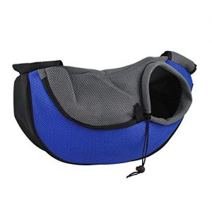 transportin bandolera azul moda canina